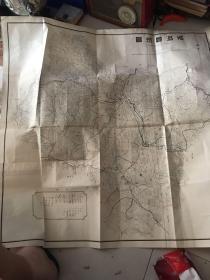 珠河县地图(现在的尚志市) 满洲国!