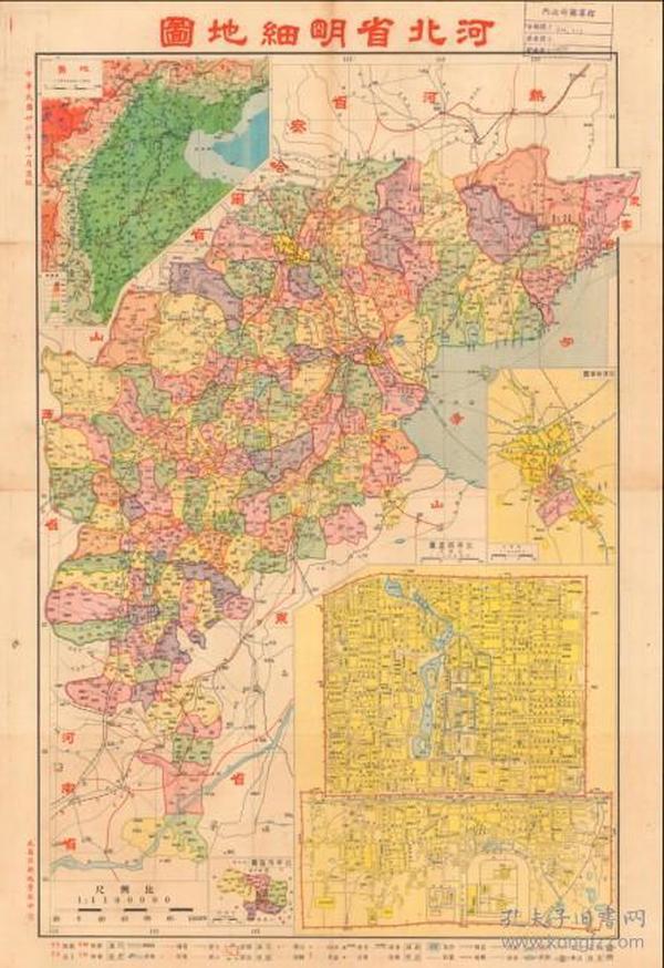 北京与河北交界地图