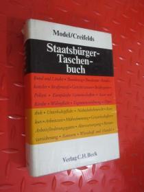 外文书  Model /Creiflds Staatsb rger-Taschen-buch   硬精装