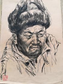 陈子贵素描351《王铁人》