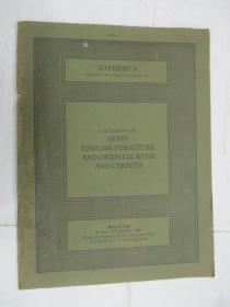 Sothebys  Catalogue of  English Furniture,and Oriental Rugs and Carpets(苏富比英式家具,地毯目录)