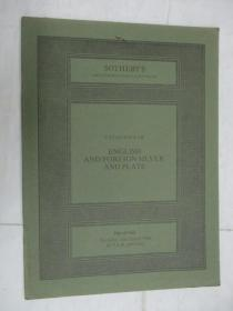 Sothebys  Catalogue of English and Foreign Silver and Plate(苏富比英国及外国银器目录)