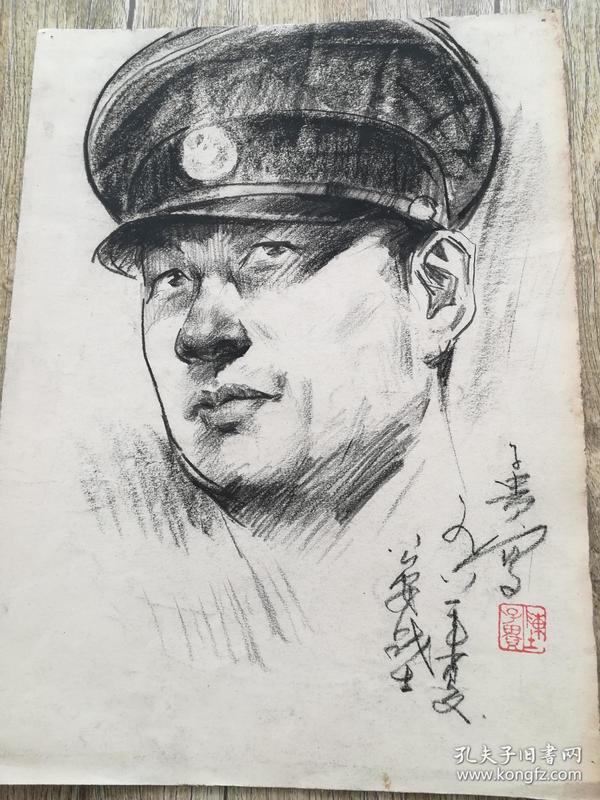 陈子贵素描《公安战士》