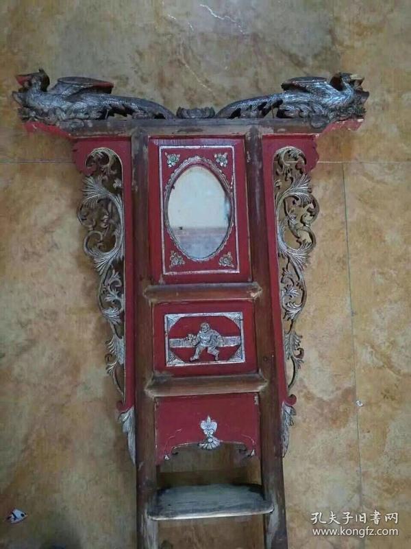 老货漆器洗脸架,高155cm,宽40cm。代理可以转图加价,运费自理