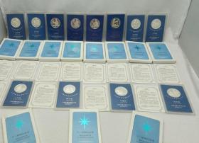 沈阳造币厂.十二星座纪念章.12枚一套.十二星座铜镀银纪念章全套