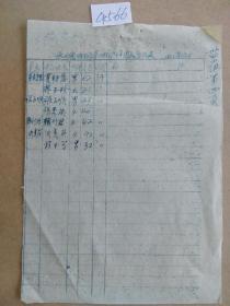 保山县城关区第三街 1956年 选民登记表(手刻油印 4566)