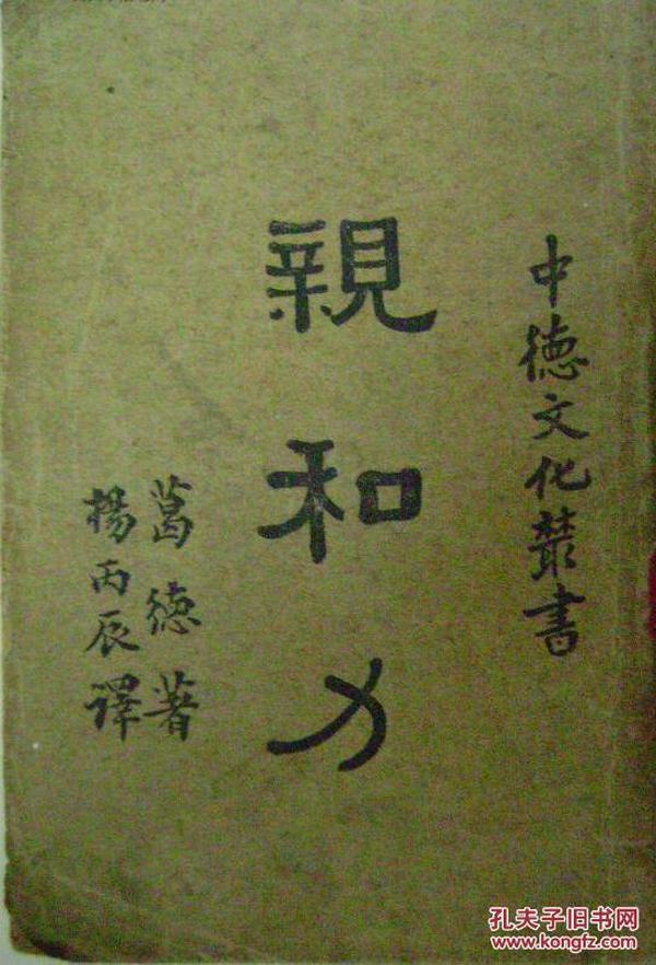 中德文化丛书—— 亲和力.