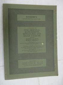 Sothebys  Catalogue of Fine Oriental Miniatures and Qajar Lacquer(苏富比精美东方缩影,卡札尔漆目录)(拉施德丁,伊朗)