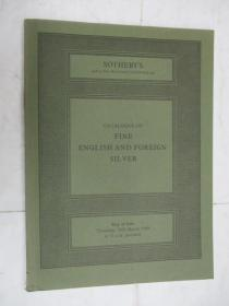 Sothebys  Catalogue of Fine English and Foreign Silver(苏富比英国及外国银器目录)