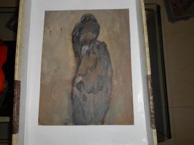 著名油画家顾祝君 早期油画写生:《鹰》