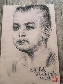 陈子贵素描383《七岁男孩》