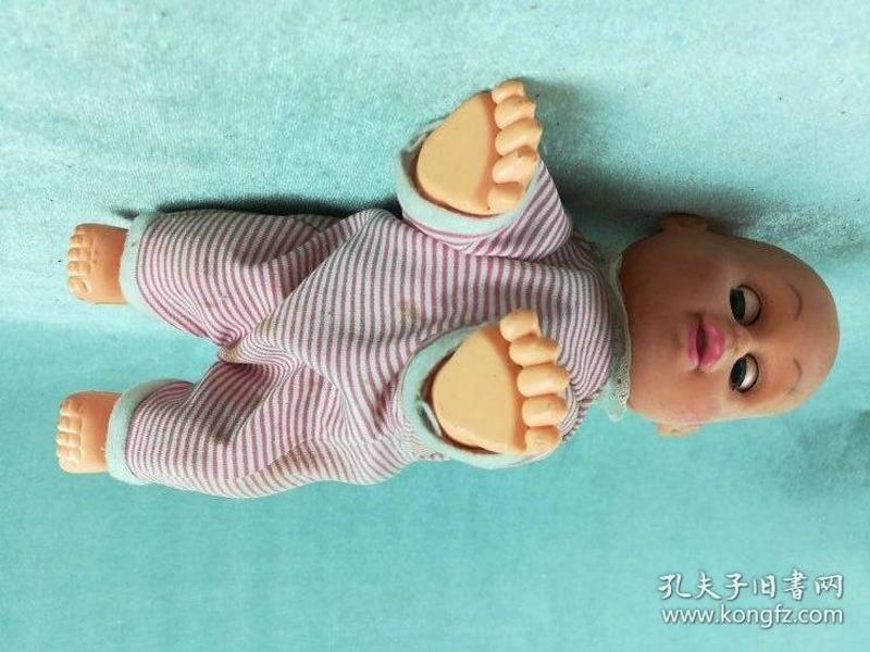 *FWPJAG-非常漂亮的硬质电动老胶皮娃娃,制作精良,有声乐,可爬动,品相极好