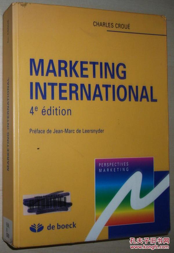 法文原版书 Marketing international Broché – 国际营销学 de Charles Croué  (Auteur)
