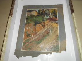 著名油画家顾祝君 早期油画写生:《住在拐弯处》