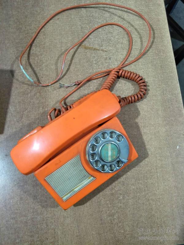 拨盘式旧电话机一台