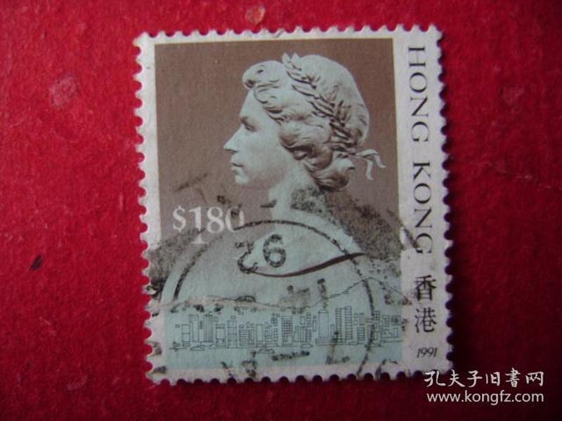 2-27.1988年香港女皇头像邮票s1.80
