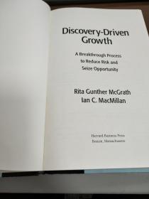 正版二手!Discovery-Driven Growth: A Breakthrough Process to Reduce Risk and Seize Opportunity9781591396857