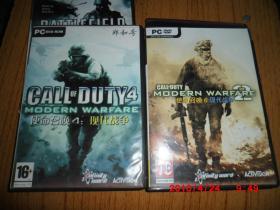 游戏光盘:FPS射击游戏--战地叛逆连队2 +使命召唤(4+6) +变形金刚 2007  (8光盘)
