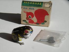 70年代 铁皮玩具松鼠 带原盒