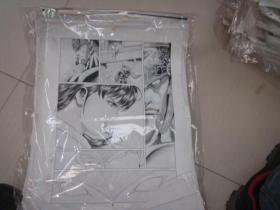 6 90年代出版过的名家动漫原稿《铁拳》32张 长47厘米宽36厘米 看详图微信