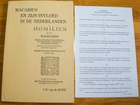马卡里乌斯和他在荷兰的影响(Marcarius en Zijn Invloed in de Nederlanden)