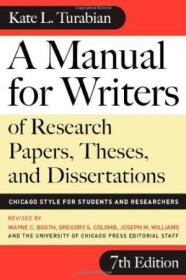 A Manual For Writers Of Research Papers  Theses  And Dissertations  Seventh Edition: Chicago Style F