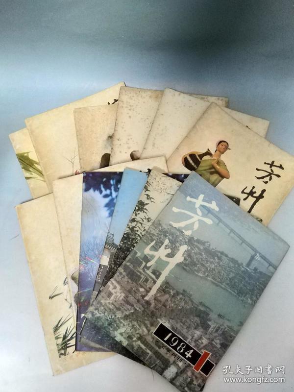 《芳草》杂志 1982-1984 十三本合售 文学月刊