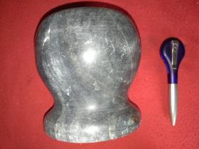 天然大理石雕刻  捣药罐