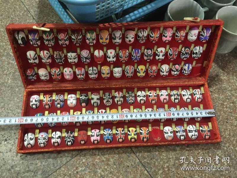 七八十年代中国京剧脸谱泥雕塑人物脸谱工艺品收藏摆件老物件