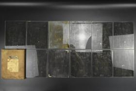 全网唯一《珂罗玻璃板》ORIENTAL PROCESS PLATES 玻璃板原盒11张 宣传画内容、女性、儿童、日本剧人物等 该玻璃片为制作做珂罗版图片所用 网上罕见  整体保存较好  单张玻璃板尺寸约为:21.5*16.5(cm)