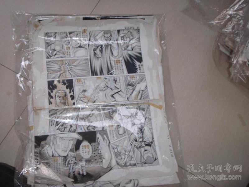 11  90年代出版过的名家动漫原稿《拳皇》36张 长47厘米宽36厘米 看详图微信