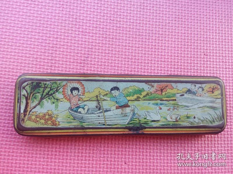 50年代老铅笔盒老文具盒老玩具(上海公私合营兴昌印铁制罐厂)