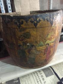 怀旧 彩绘人物故事纹大纸缸