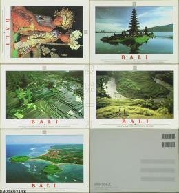 明信片-印度尼西亚原版·BALI(巴厘岛)5枚*