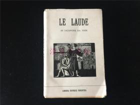 意大利原版旧书《LE LAUDE》。PISA,Camposanto,欧洲宗教壁画等艺术插图