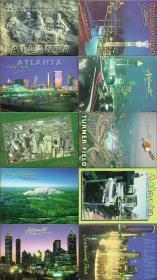 明信片-加拿大原版·Atlanta亚特兰大10枚*