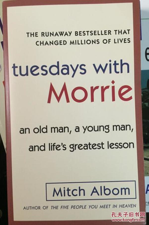 Tuesdays with Morrie [平装]  [相约星期二]