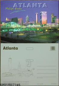 明信片-加拿大原版·Atlanta Philips Arena亚特兰大菲利普斯球场*