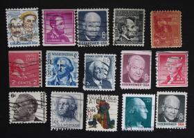 美国邮票----人物D(信销票)