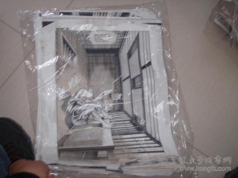 16 90年代出版过的名家动漫原稿《油尖旺》28张 长47厘米宽36厘米 看详图微信