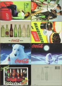 明信片-加拿大原版· Coca-Cola可口可乐7枚*