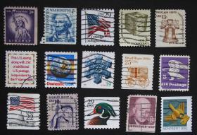 美国邮票-----混合小票B(信销票)