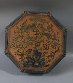 漆器松竹梅纹八梭盒