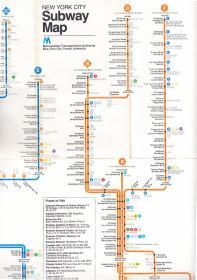 NEW YORK CITY Subway Map  美国纽约地铁线路图  1980年版  国外原版地图  一大张