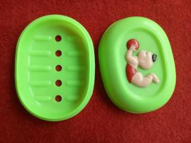 怀旧收藏 八十年代 香皂盒 塑料材质 孩童嬉戏 上海桃源库存新