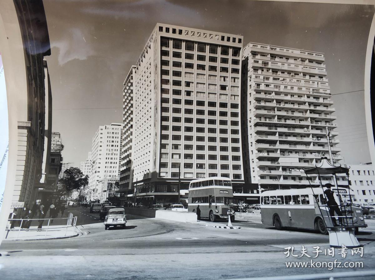 香港六十年代九龙尖沙咀半岛酒店附近弥敦道大