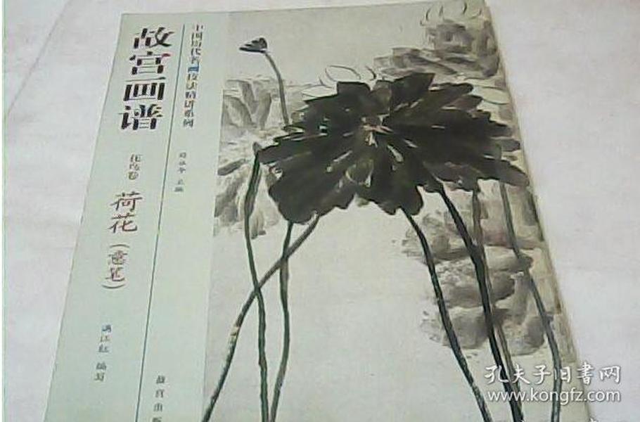 花鸟卷-荷花(意笔)-故宫画谱   满江红 著;薛永年 编  故宫出版社  9787513405263