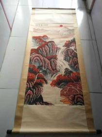 少见的名人李可染手绘山水风景画.。