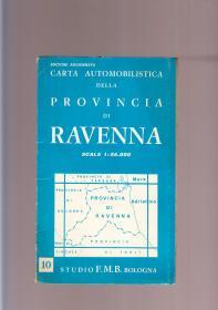 RAVENNA  意大利拉文纳原版老地图  1970年出版  一大张