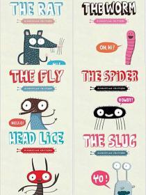 The Fly 经典故事6册Elise Gravel 趣味插画绘本